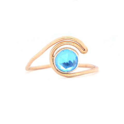BLUE CRUSH WAVE RING