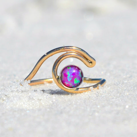 ROXY - Pink Opal Wave Ring