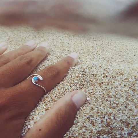 Roxy Turquoise Wave Ring