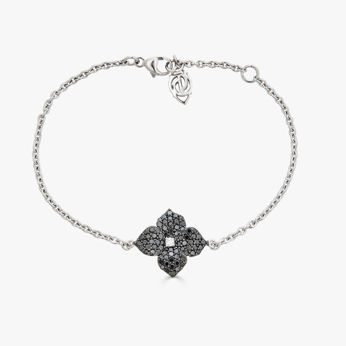 Mosaique Small Flower Bracelet in Black Diamond