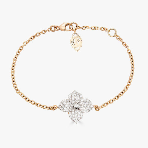 Mosaique Small Flower Bracelet in Diamond
