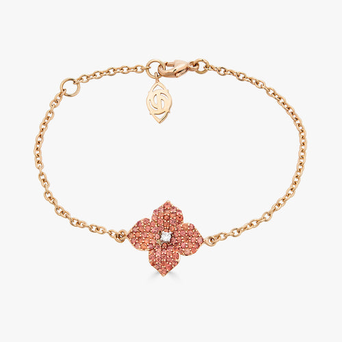 Mosaique Small Flower Bracelet in Orange Sapphire