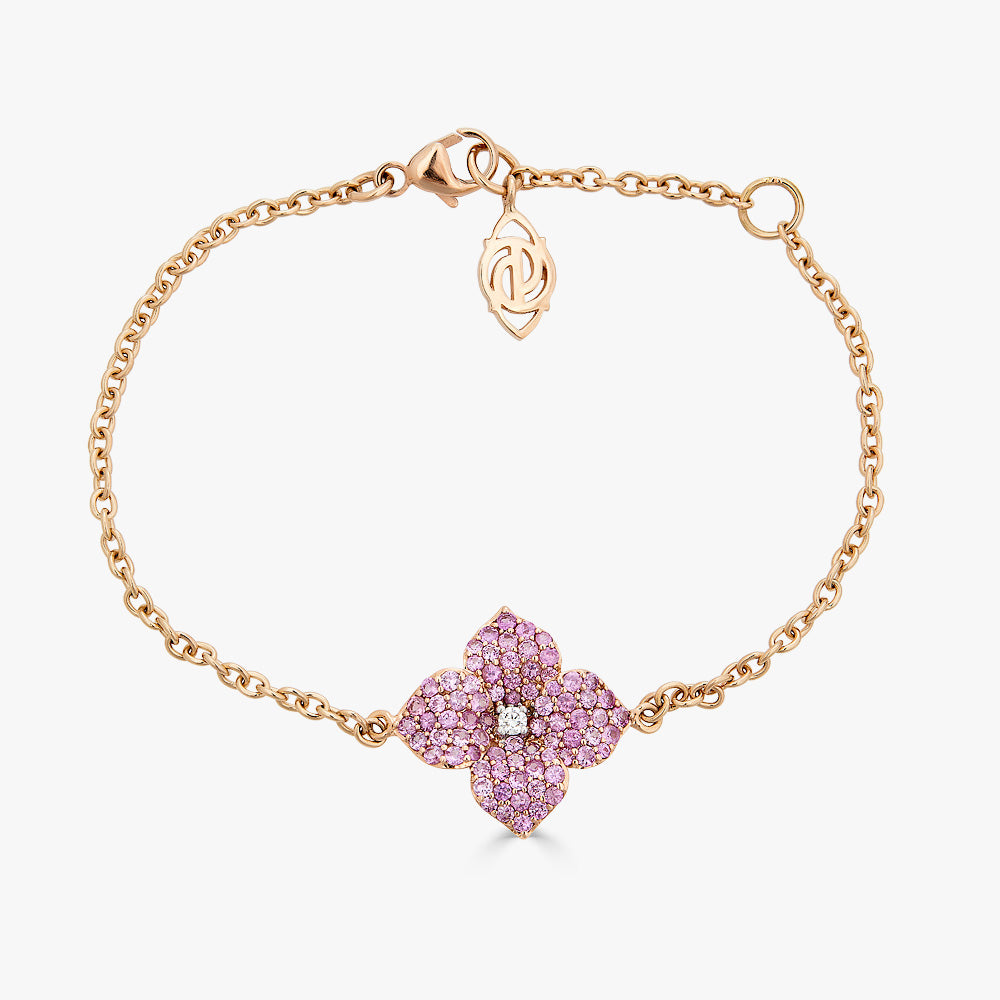 Mosaique Small Flower Bracelet in Pink Sapphire