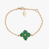 Mosaique Small Flower Bracelet in Green Tsavorite Garnet