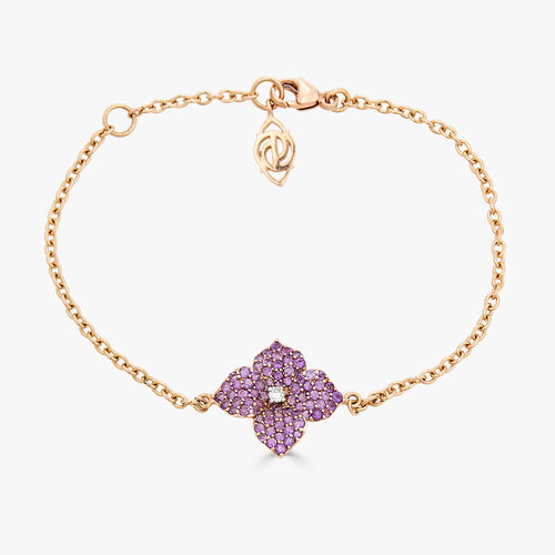 Mosaique Small Flower Bracelet in Purple Amethyst