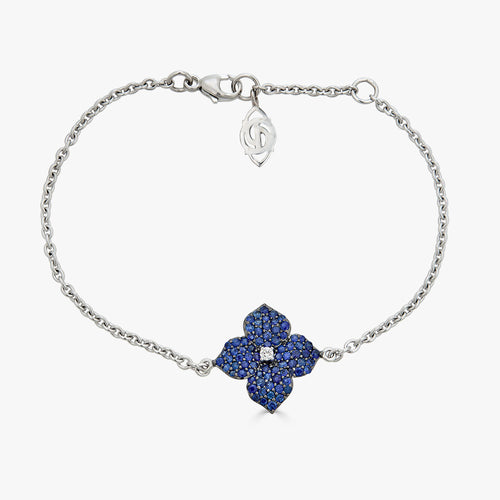 Mosaique Small Flower Bracelet in Blue Sapphire