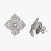 Mosaique Small Flower Earrings in Diamond
