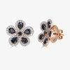 Classic Flower Earrings in Black Sapphire