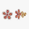 Classic Flower Earrings in Orange Sapphire