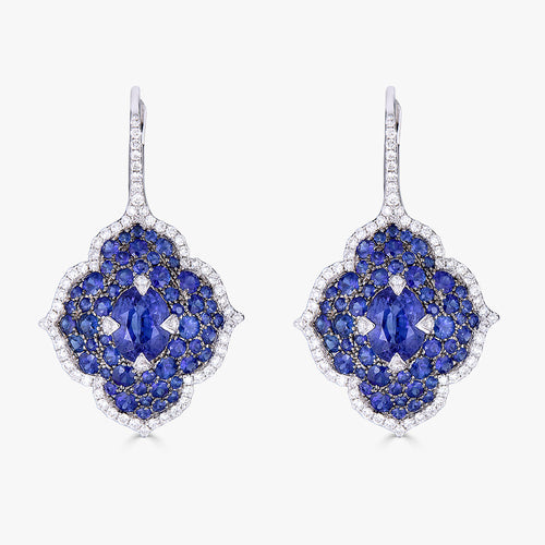Pacha on Wire Earrings in Blue Sapphire