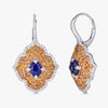 Pacha on Wire Earrings in Blue and Orange Sapphire