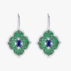 Pacha on Wire Earrings in Blue Sapphire and Green Tsavorite Garnet