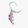 Pacha on Wire Earrings in Blue and Pink Sapphire