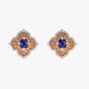 Pacha Earrings in Blue and Orange Sapphire