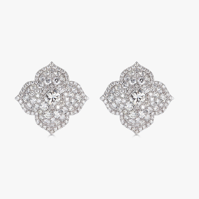 Pacha Earrings in Diamond