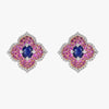 Pacha Earrings in Blue and Pink Sapphire