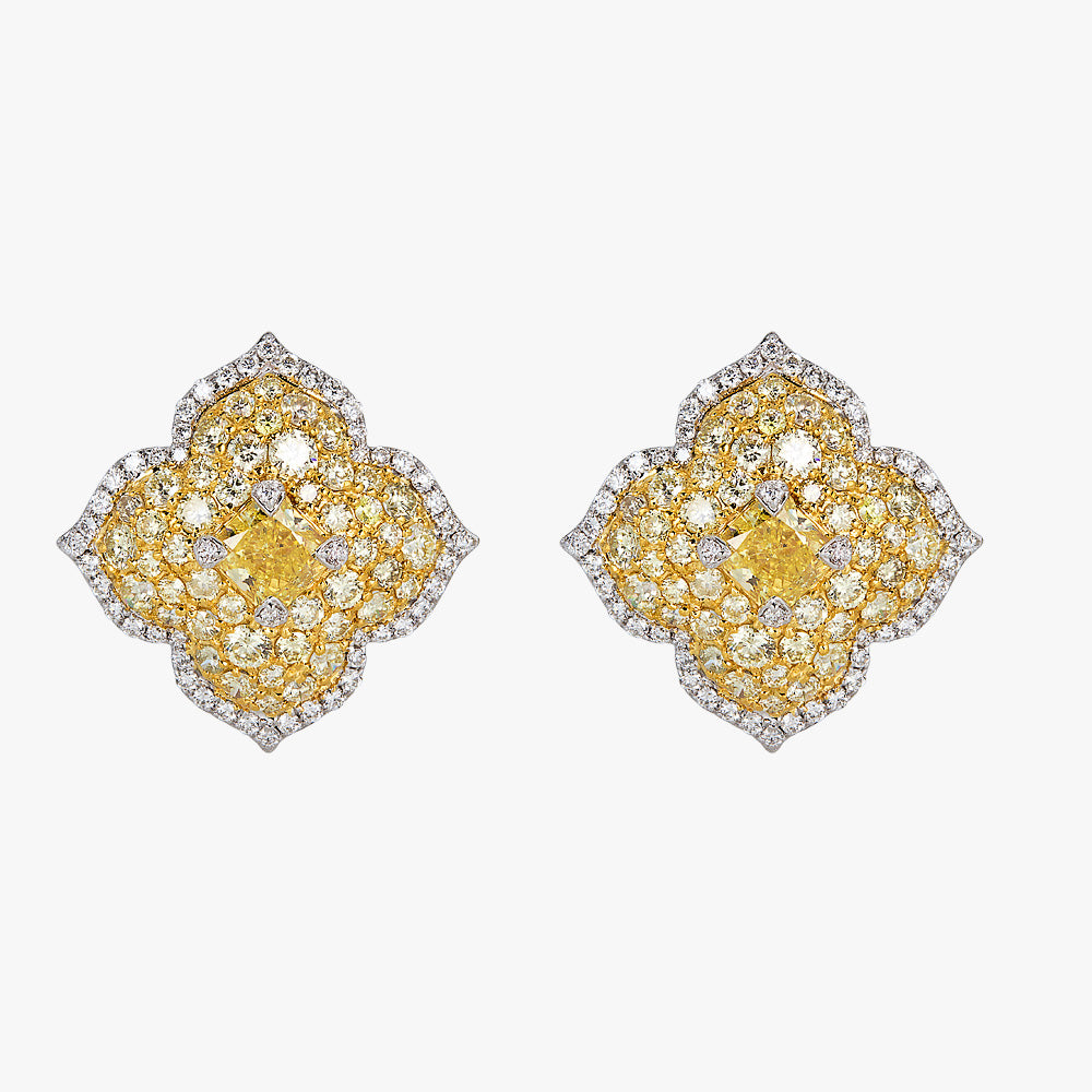 Pacha Earrings in Yellow Diamond