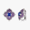 Pacha Earrings in Blue Sapphire and Amethyst