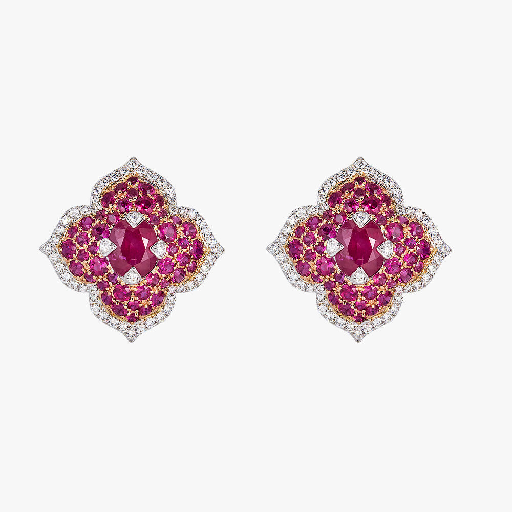 Pacha Earrings in Ruby
