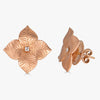 Oro Large Flower Earrings in 18K Rose Gold