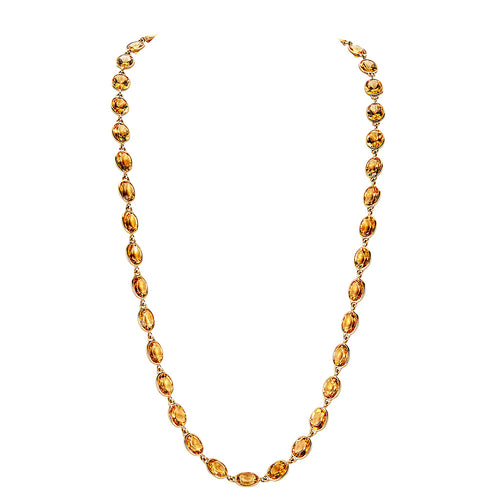 Pietra Oval Chain Necklace