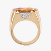 Pietra Large Ring in Citrine with Diamonds
