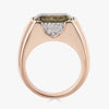 Pietra Small Ring in Green Amethyst with Diamonds