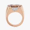 Pietra Large Ring in Champagne Topaz with Diamonds
