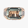 Pietra Large Ring in Green Amethyst with Diamonds