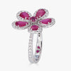 Classic Flower Ring in Ruby