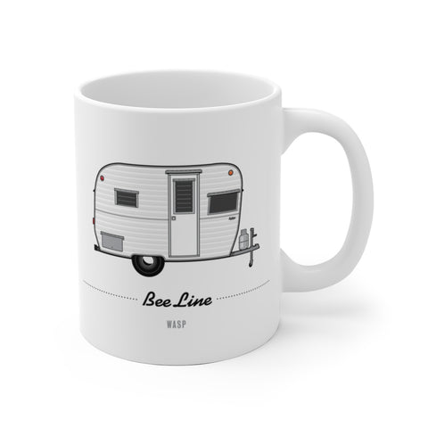 Bee Line Wasp (1963), Ceramic Mug - Vintage Trailer Field Guide