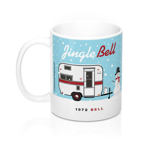 Jingle Bell / 1972 Bell, Ceramic Mug 11 oz - Vintage Trailer Field Guide