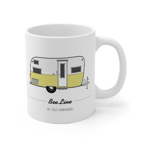 Bee Line 16' Self-Contained (1965), Ceramic Mug - Vintage Trailer Field Guide