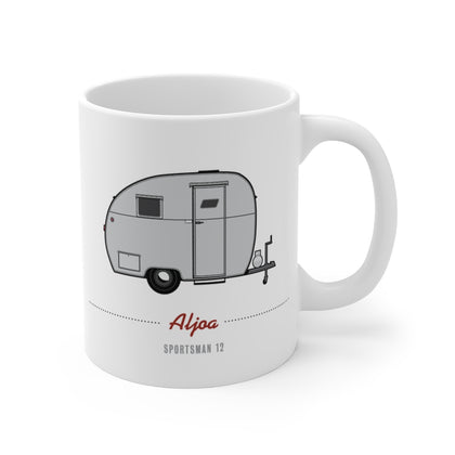 Aljoa Sportsman 12 (1948), Ceramic Mug - Vintage Trailer Field Guide