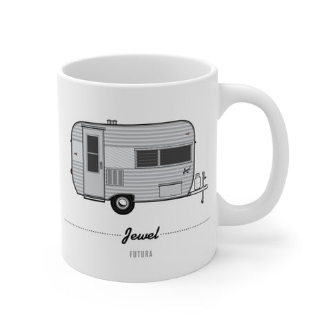 Jewel Futura (1963), Ceramic Mug - Vintage Trailer Field Guide