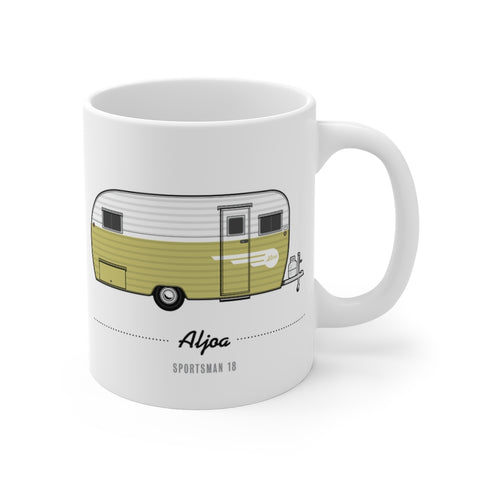 Aljoa Sportsman 18 (1955), Ceramic Mug - Vintage Trailer Field Guide