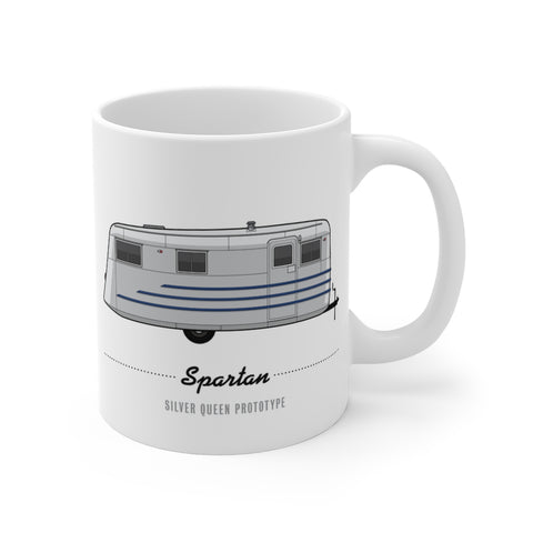 Spartan Silver Queen Prototype (1945), Ceramic Mug - Vintage Trailer Field Guide