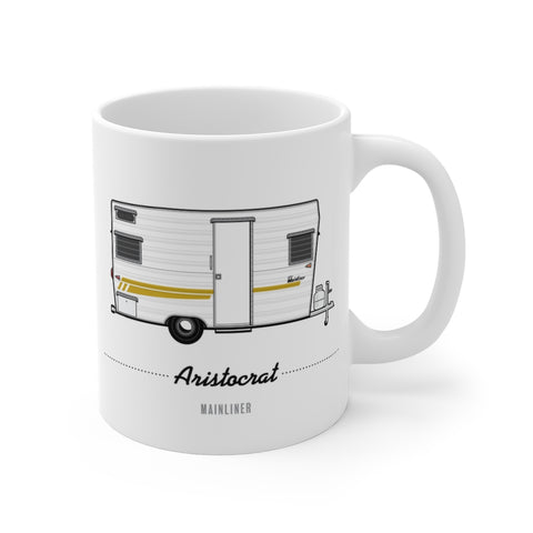 Aristocrat Main-Liner (1965), Ceramic Mug - Vintage Trailer Field Guide