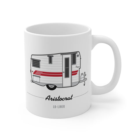 Aristocrat Lo-Liner (1962), Ceramic Mug - Vintage Trailer Field Guide