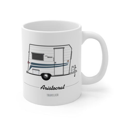 Aristocrat Travelier (1965), Ceramic Mug - Vintage Trailer Field Guide
