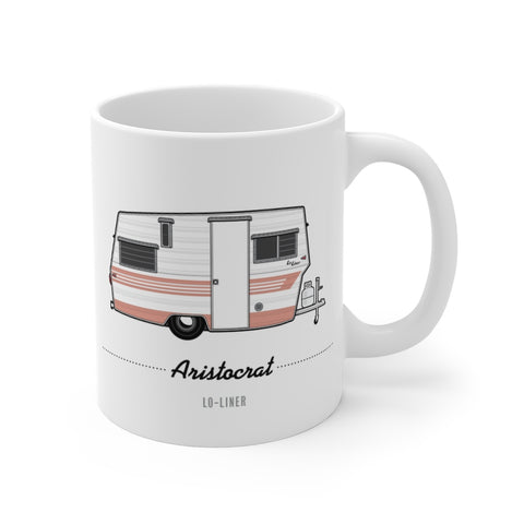 Aristocrat Lo-Liner (1965), Ceramic Mug - Vintage Trailer Field Guide