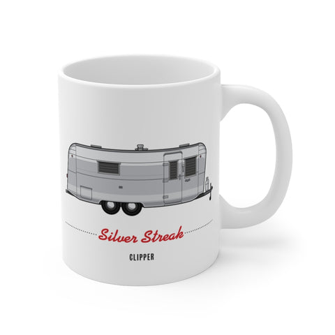 Silver Streak Clipper (1959), Ceramic Mug - Vintage Trailer Field Guide