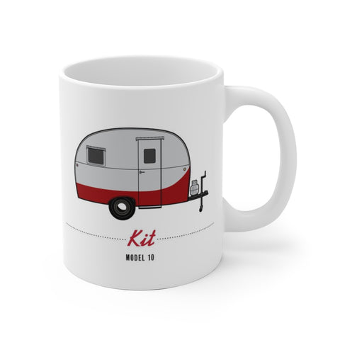 Kit Model 10 (1949), Ceramic Mug - Vintage Trailer Field Guide