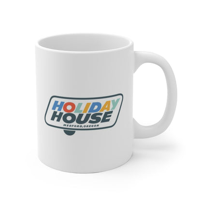 Holiday House Logo, Ceramic Mug - Vintage Trailer Field Guide