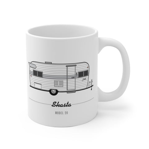 Shasta Model 20 (1964), Ceramic Mug - Vintage Trailer Field Guide