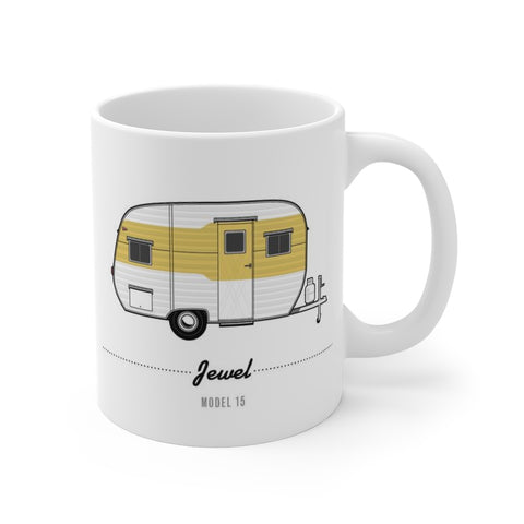 Jewel Model 15 (1954), Ceramic Mug - Vintage Trailer Field Guide