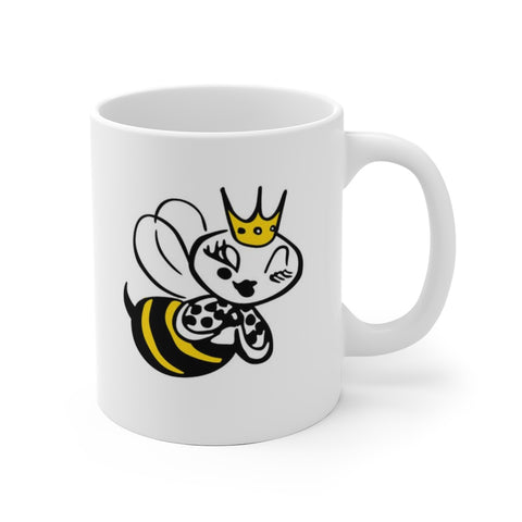 Bee Line Queen Bee character, Ceramic Mug