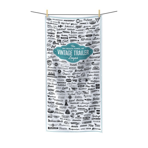 The Big Beach Towel of Vintage Trailer Logos