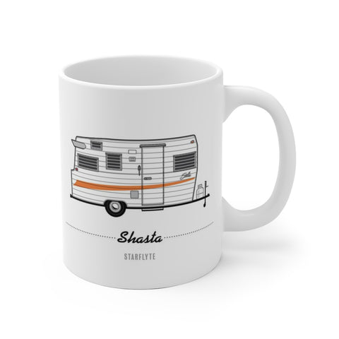 Shasta Starflyte (1966), Ceramic Mug - Vintage Trailer Field Guide