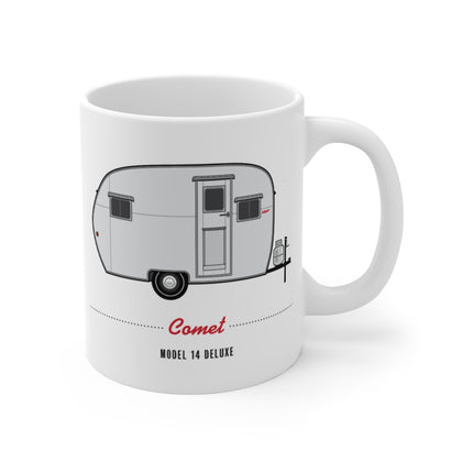 Comet Model  14 Deluxe (1953), Ceramic Mug - Vintage Trailer Field Guide